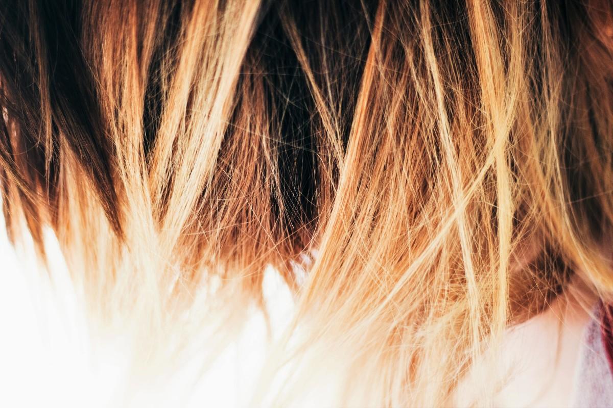 Like skin, hair contains melanin.