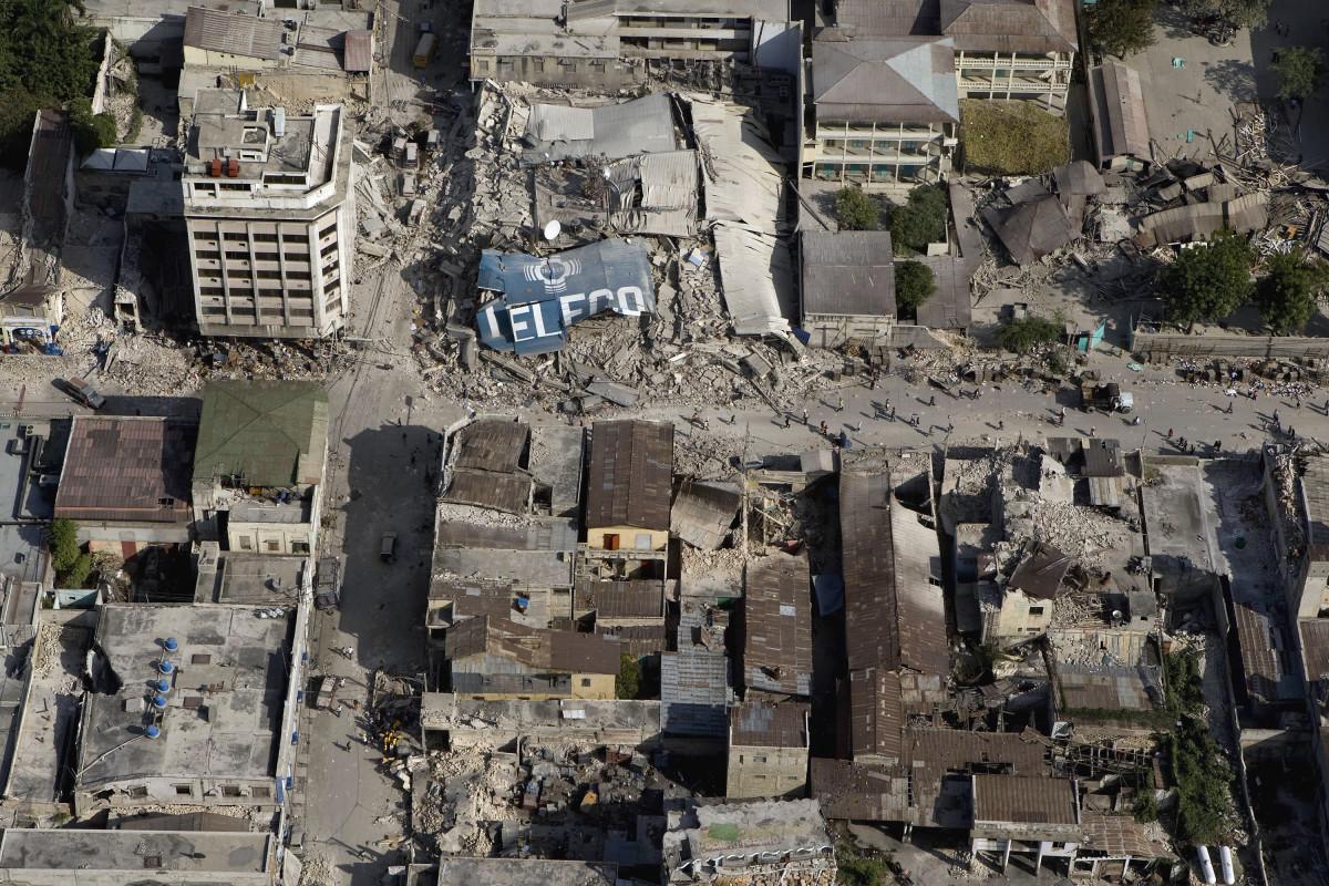 The Port au Prince Earthquake on January 12, 2010.