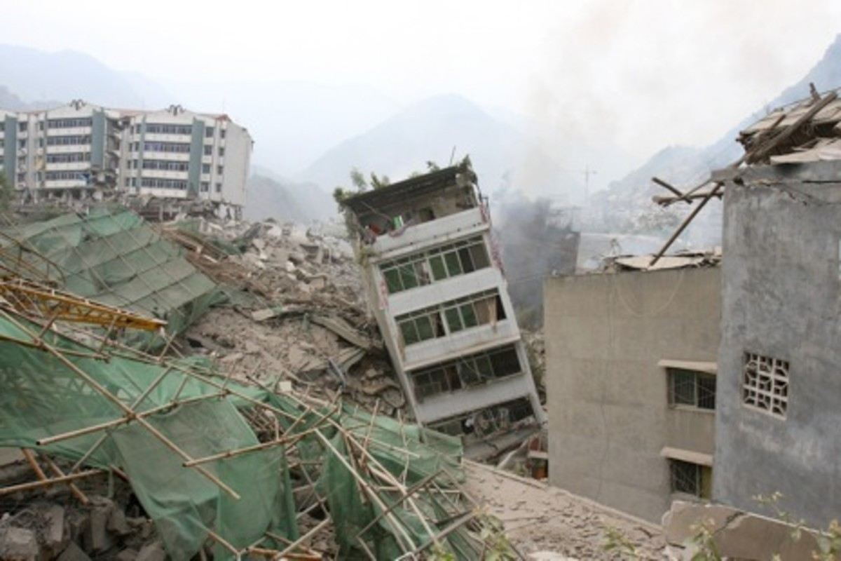 Earthquake in Sichuan Province (China).