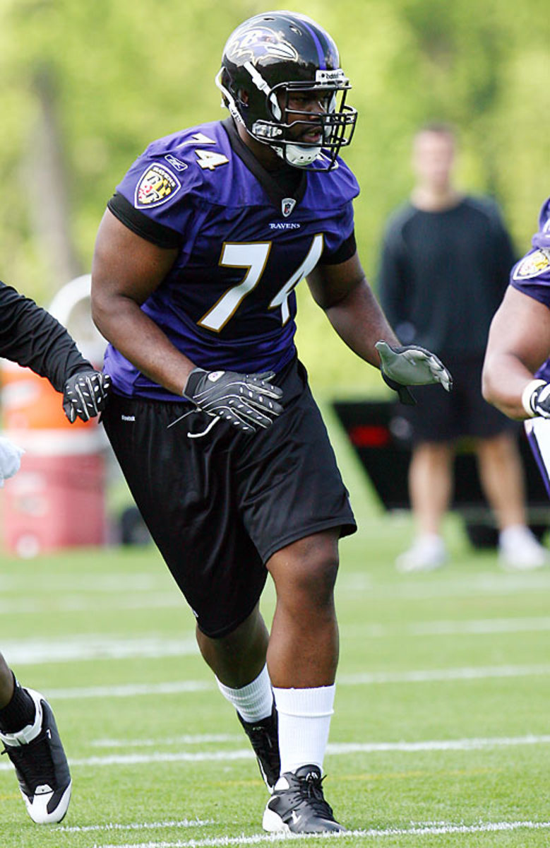 Michael in his rookie year with the Baltimore Ravens.  He was a runner-up for the AP Rookie of the Year.