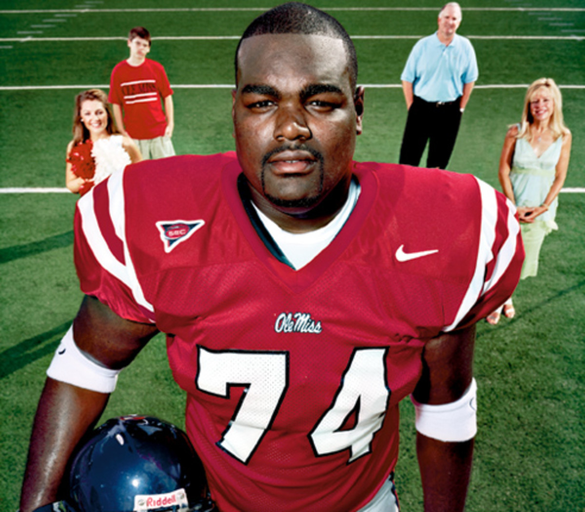 Michael is his Ole Miss (University of Mississippi) uniform