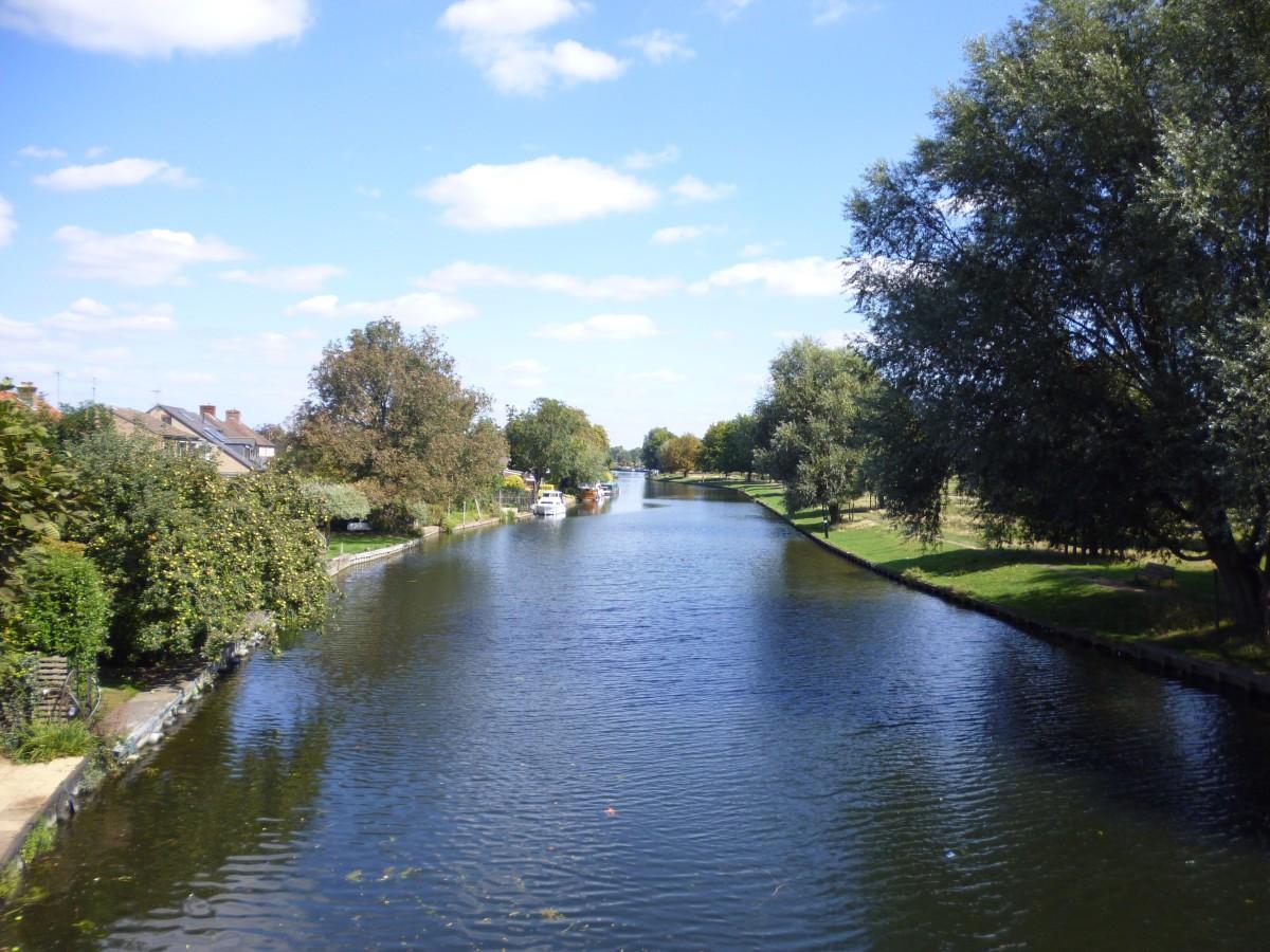 The River Cam by Stourbridge Common