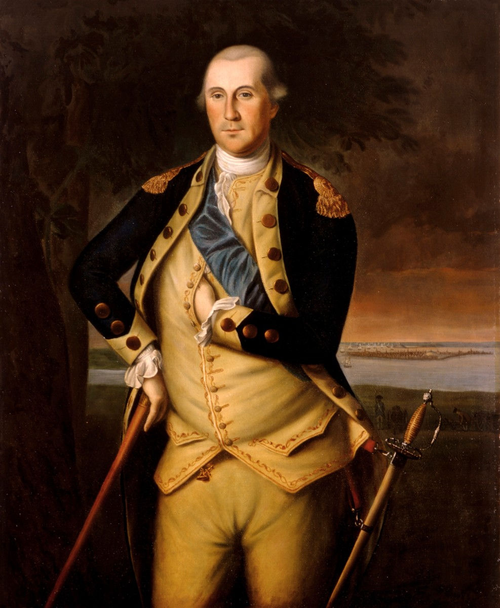 This was a painting of George Washington in 1776.
