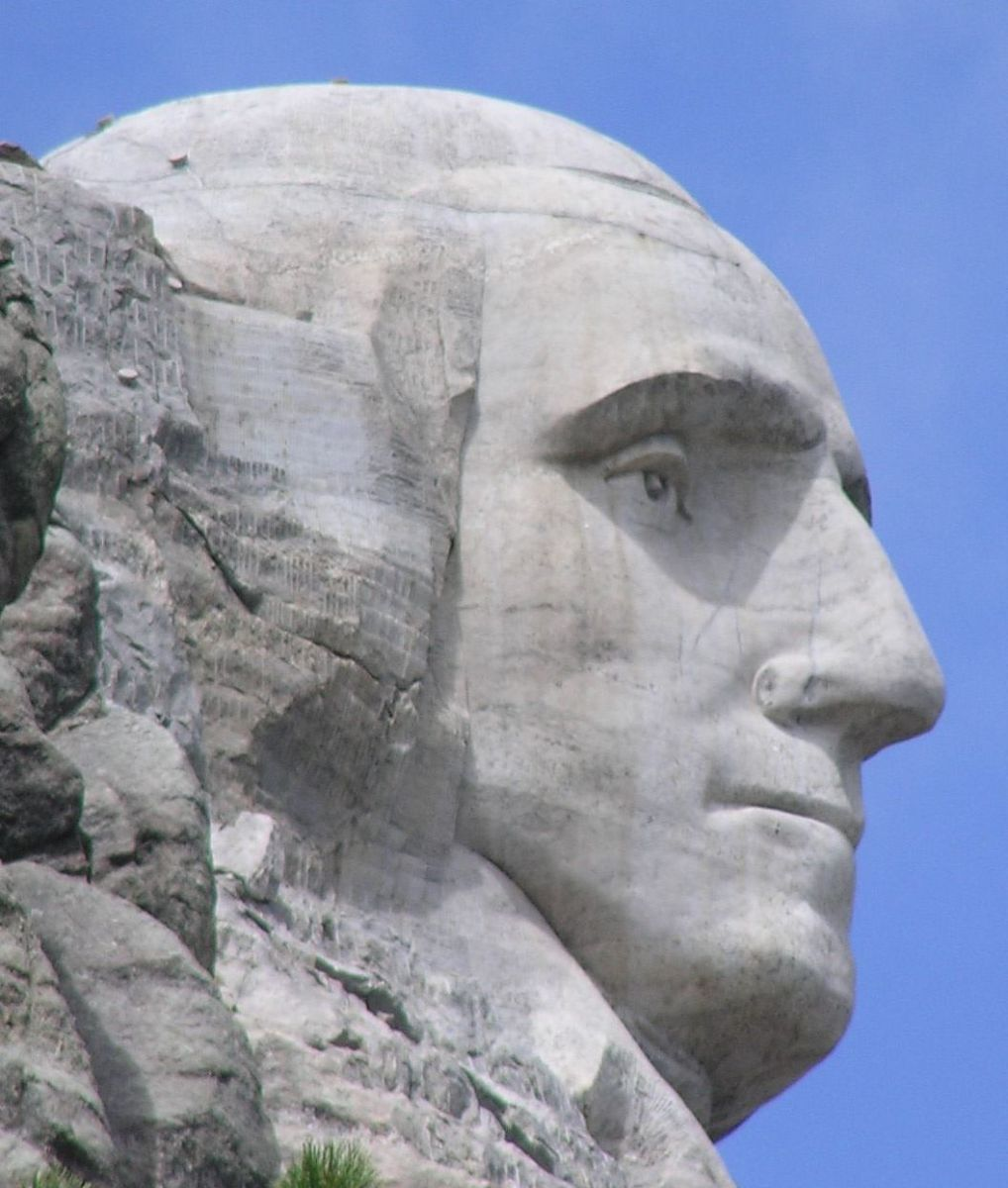 George Washington is so revered, he is one of the Presidents shown on Mount Rushmore.
