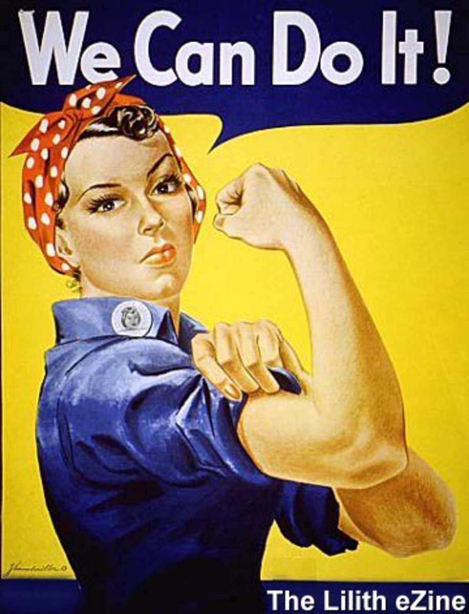 Feminist poster from the twentieth century.