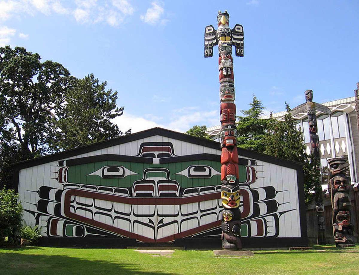Mungo Martin's famous Kwakiutl bighouse in Victoria BC.