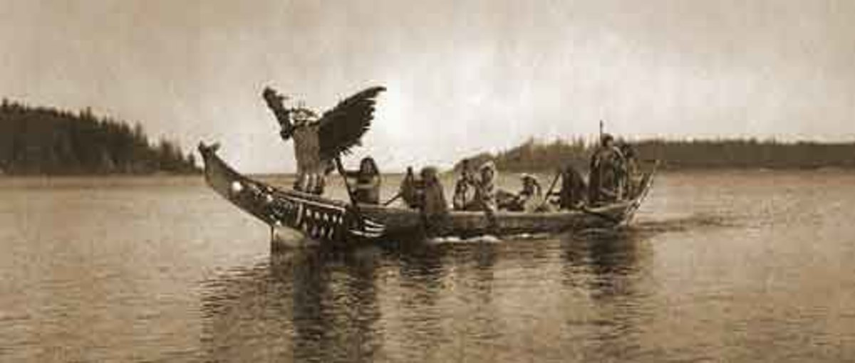 Another traditional Kwakiutl carved boat.