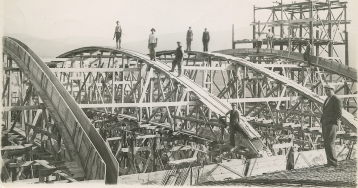 One of Dragoslav's Construction Crews in Belgrade circa 1930's