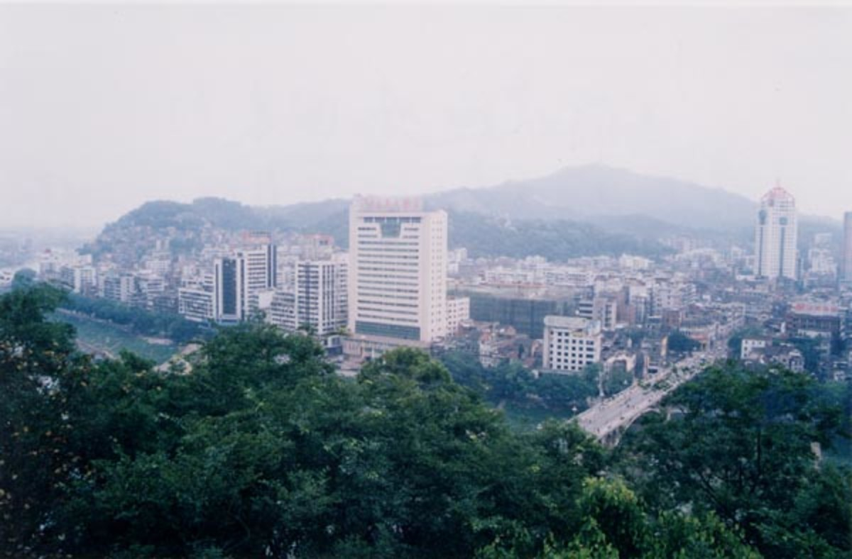 Overview of Nanning.