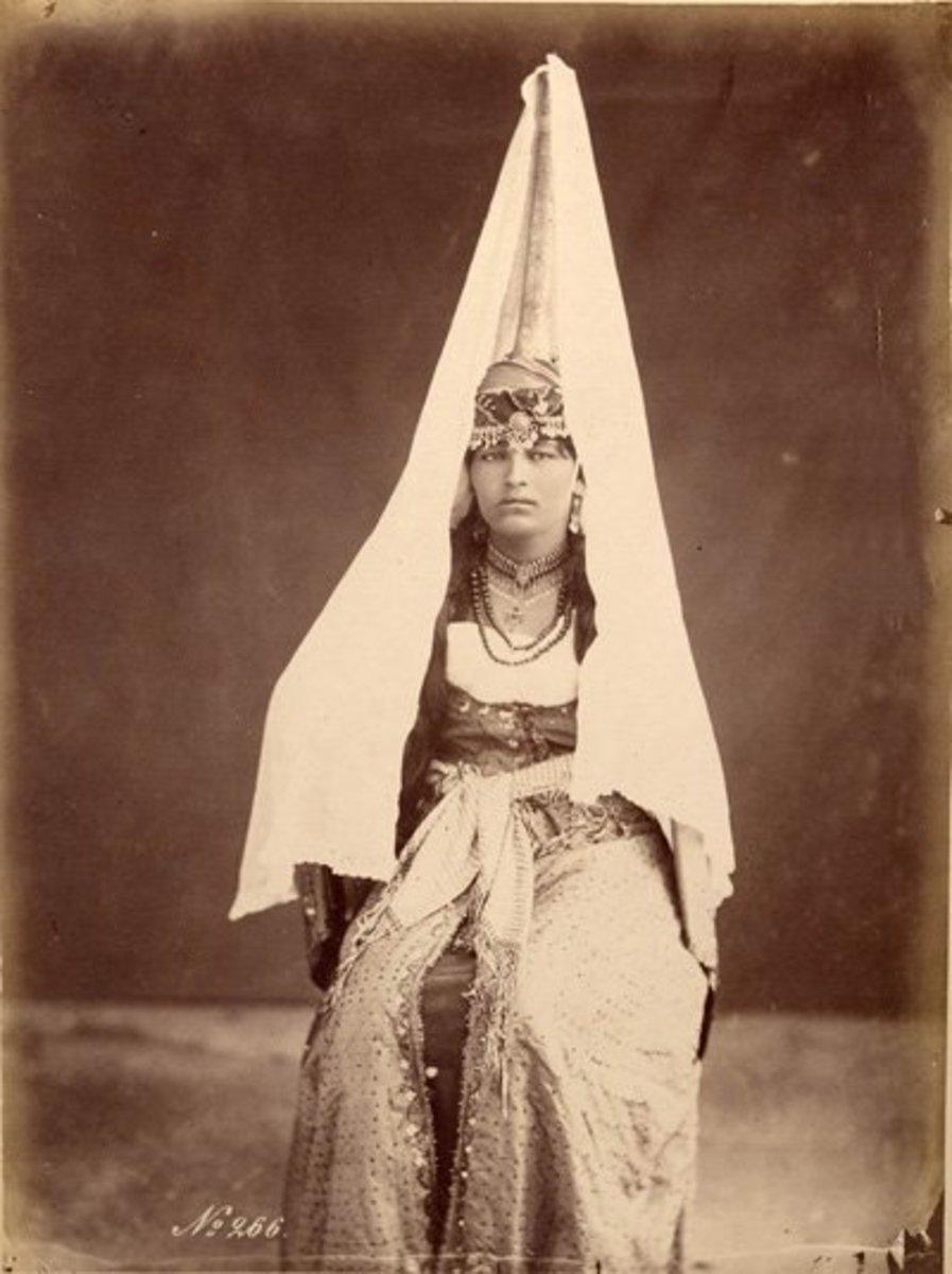 Druze woman, Lebanon, c. 1870