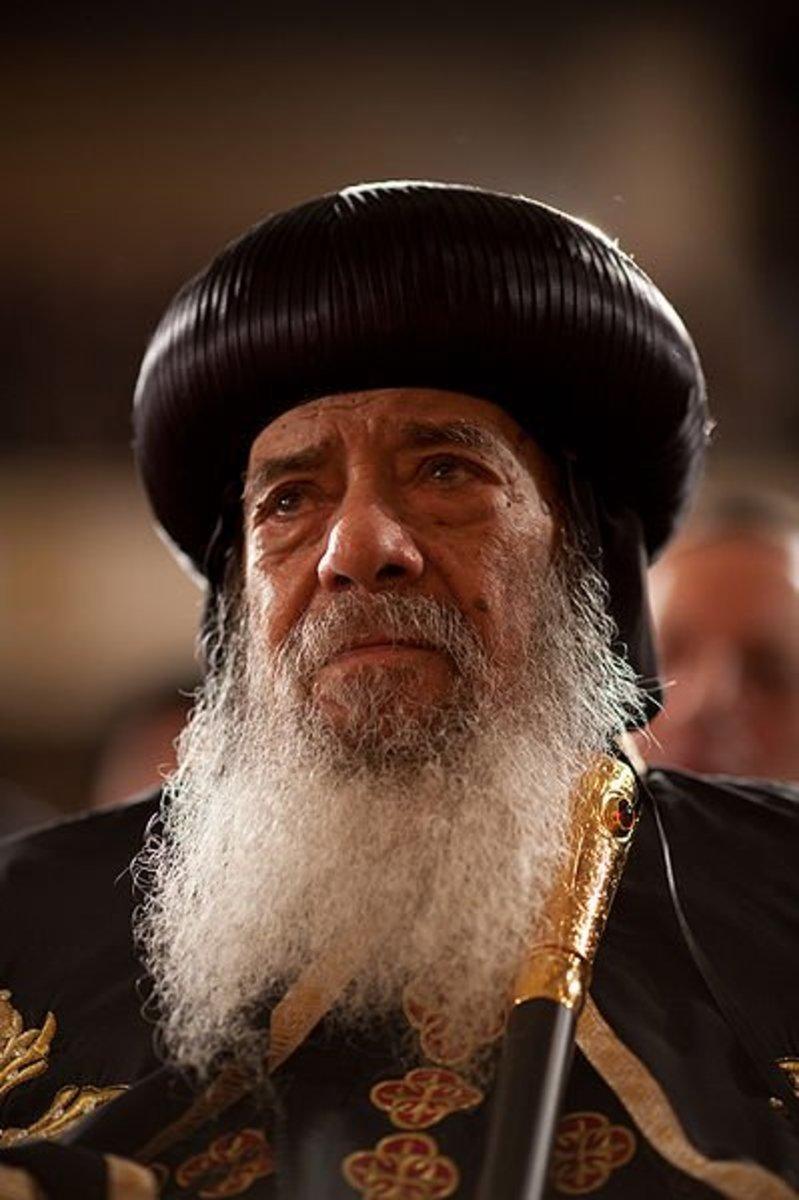 Pope Shenouda III, the Coptic Orthodox Christians' Pope.