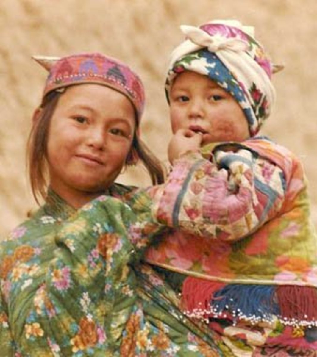 Turkmen Children in Afghanistan