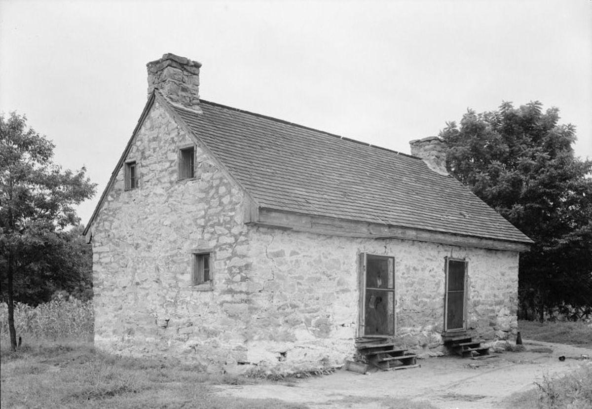 Stone slave quarters in Halifax County, Virginia.