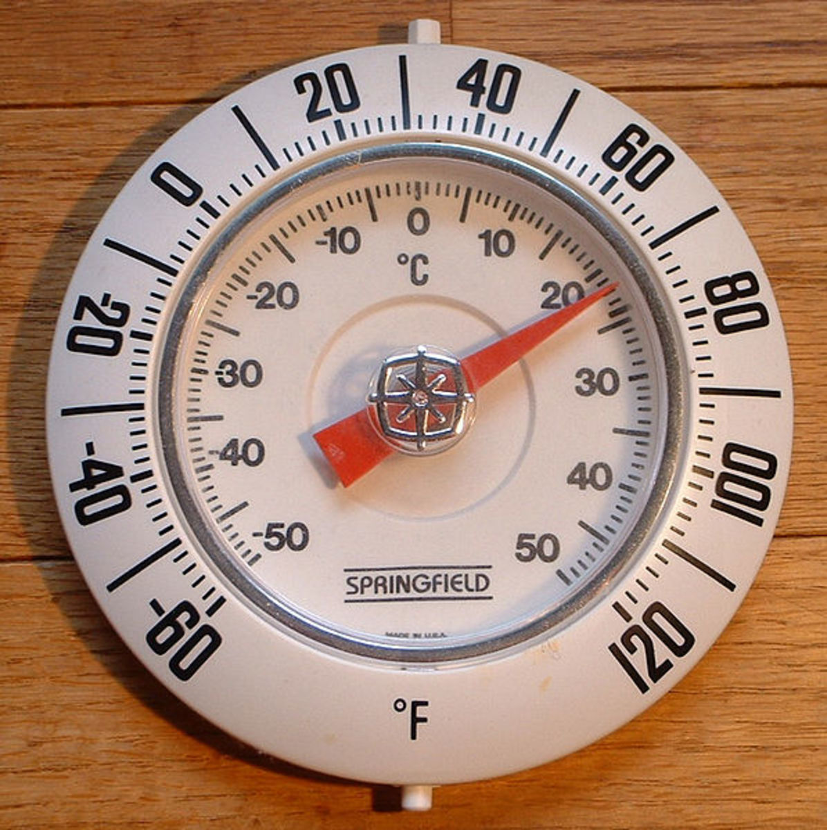 "Although I find this thermometer design attractive, I have trouble ""seeing"" the relationships between the two degree systems when they are arranged in an arc."