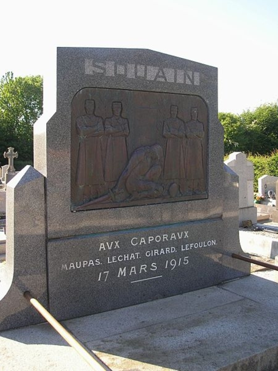 Monument in Sartilly, France, honoring the four corporals slain in Souain.