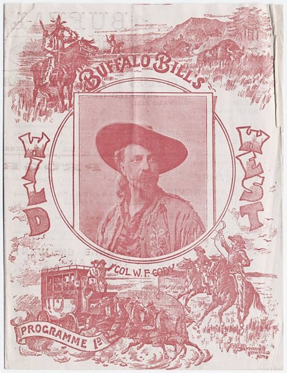 """Buffalo Bill's Wild West"" show programme, featuring ""Col. W. F. Cody,"" printed at South Brooklyn, New York. Image courtesy of the Beinecke Rare Book & Manuscript Library, Yale University."