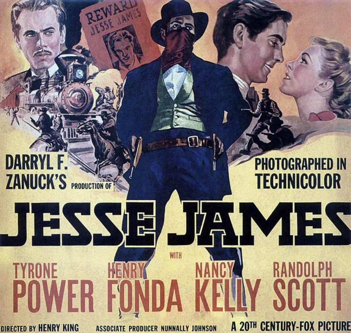 Poster - Jesse James - Directed by Henry King - 1939