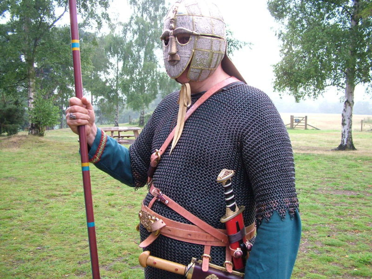 How an Anglo-Saxon warrior may have looked.