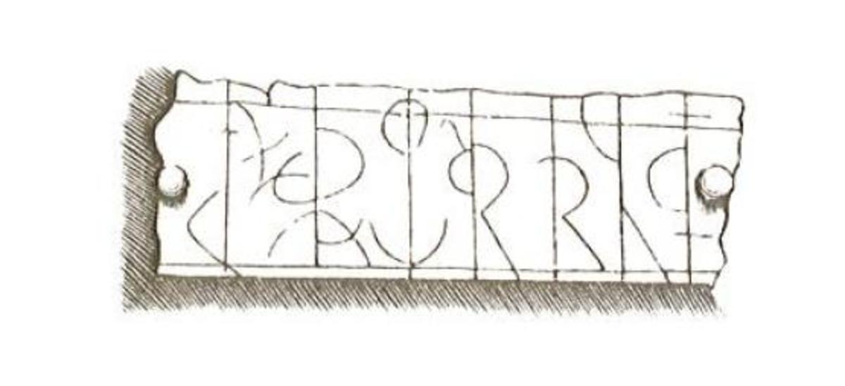 Closer detail of the runic inscription, by John Kirkham.