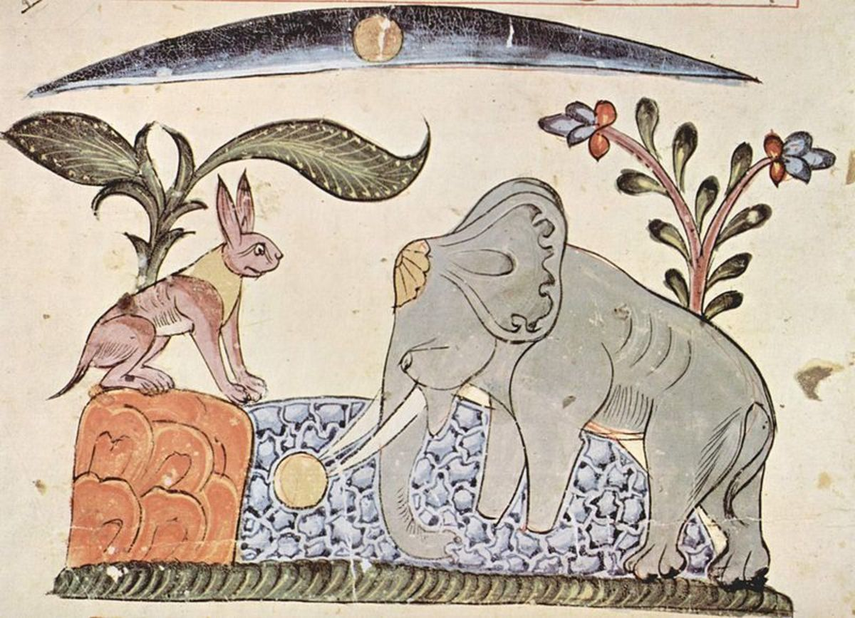 An illustration from a Syrian edition dated 1354.