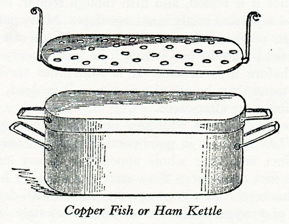 A copper fish or ham kettle from 1845