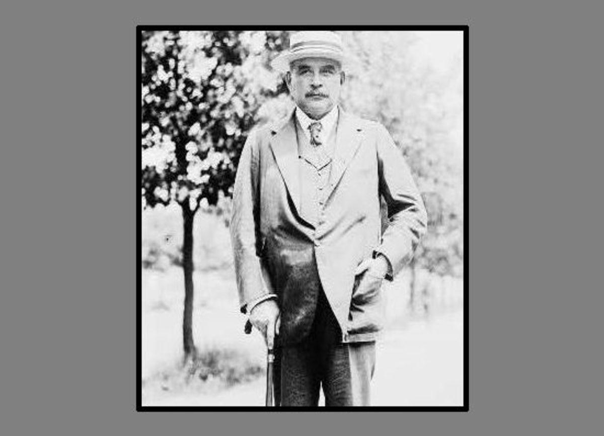"John Pierpont ""Jack"" Morgan Jr. (1867-1943) taken around 1919 (4 years after he was shot by Muenter)."