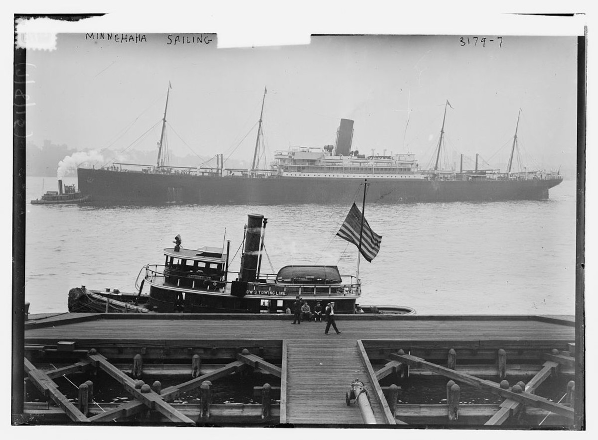SS Minnehaha (circa 1910-1915) in an American port.