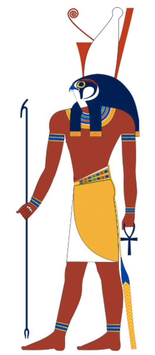 Horus was often pictured as having the head of a falcon.