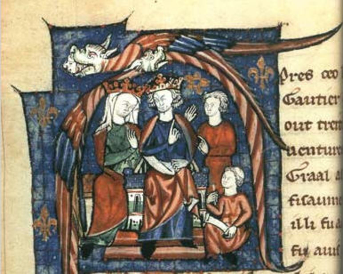 Henry II of England and his Queen, Eleanor of Aquitaine