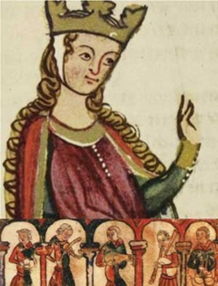 Eleanor of Aquitaine, from a Medieval manuscript