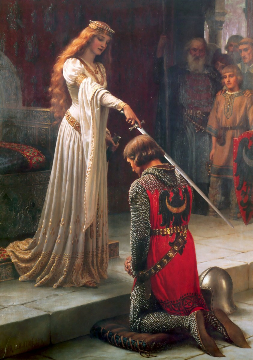 The Accolade by  Edmund Blair Leighton, a Pre-Raphaelite artist, 1901