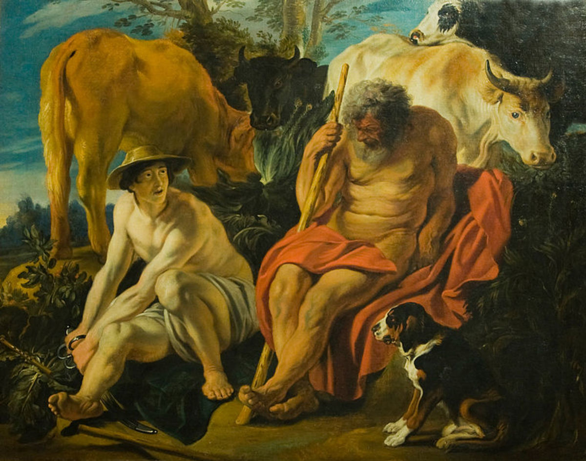 Jacob Jordaens, Mercurius and Argus, 17th Century. Artists seem shy of having a go at depicting the 100 eyes.