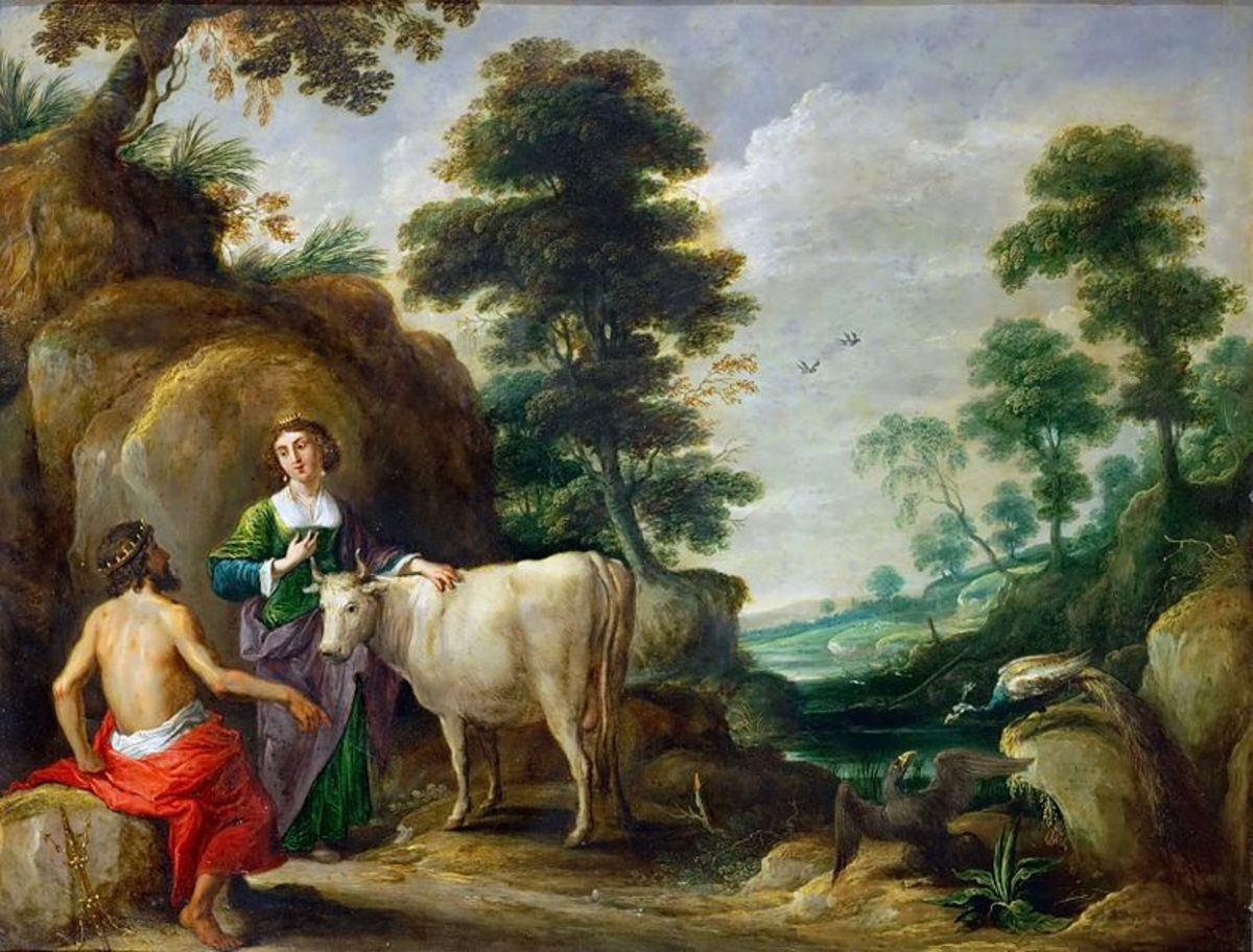'Io, Transformed into a Cow, is Handed to Juno by Jupiter' by David Teniers the Elder, 1638