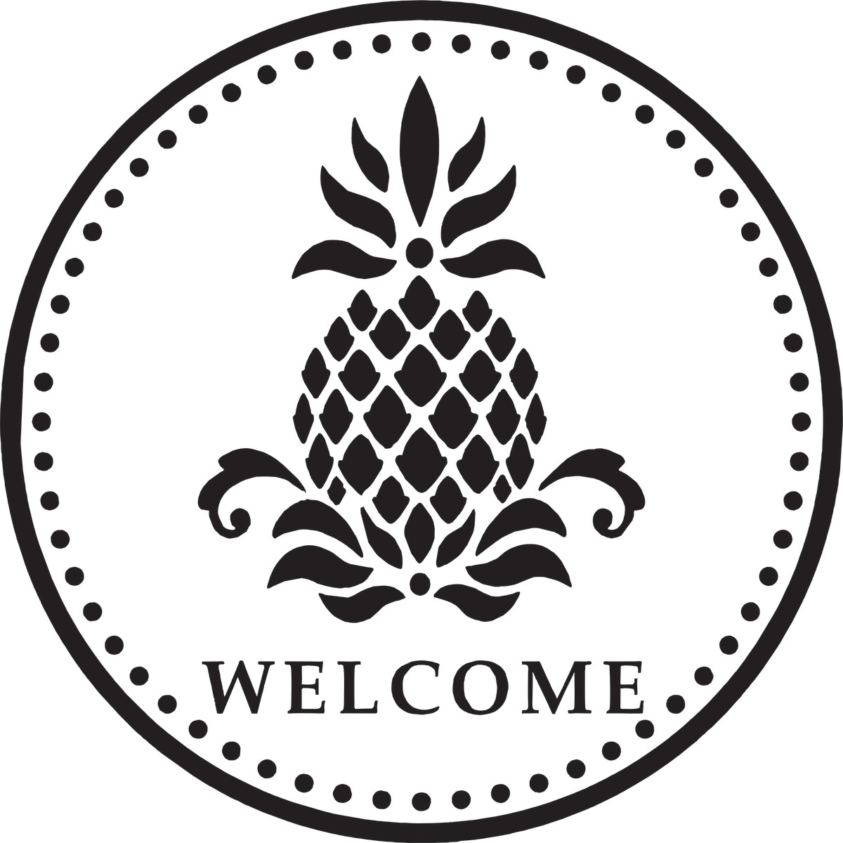 An example of the pineapple welcome sign.