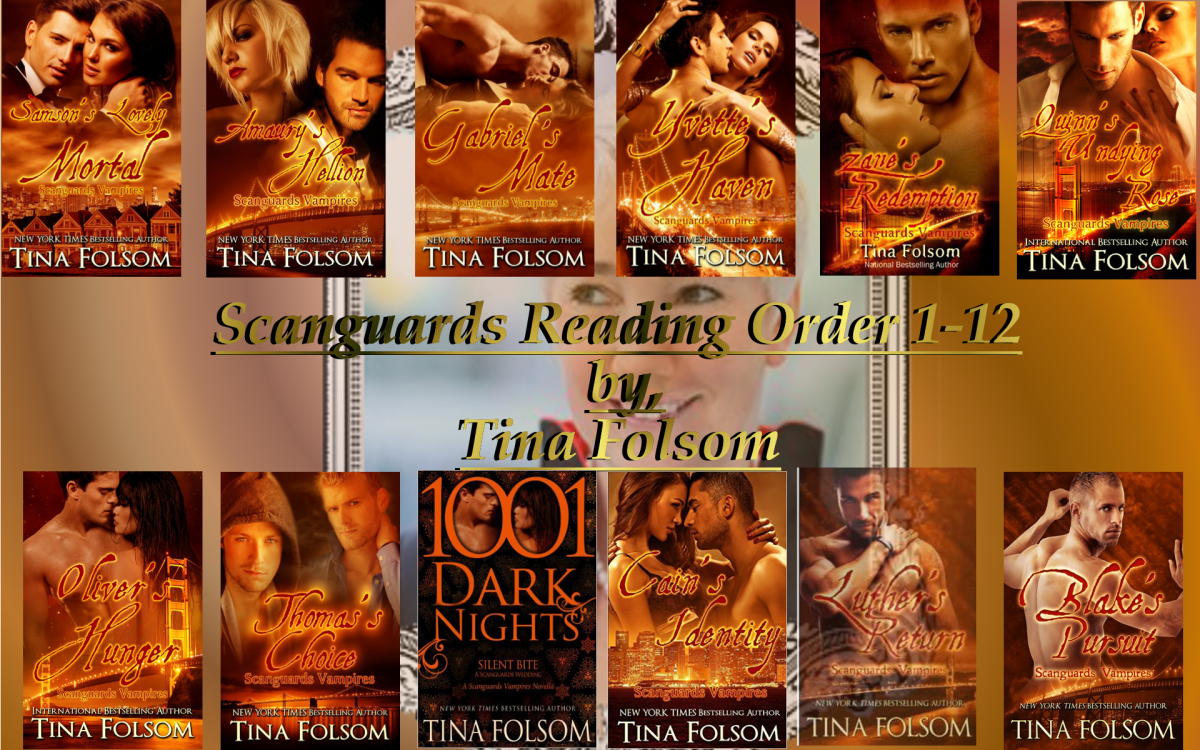 The correct reading order of the famous Scanguards series, written by Tina Folsom.