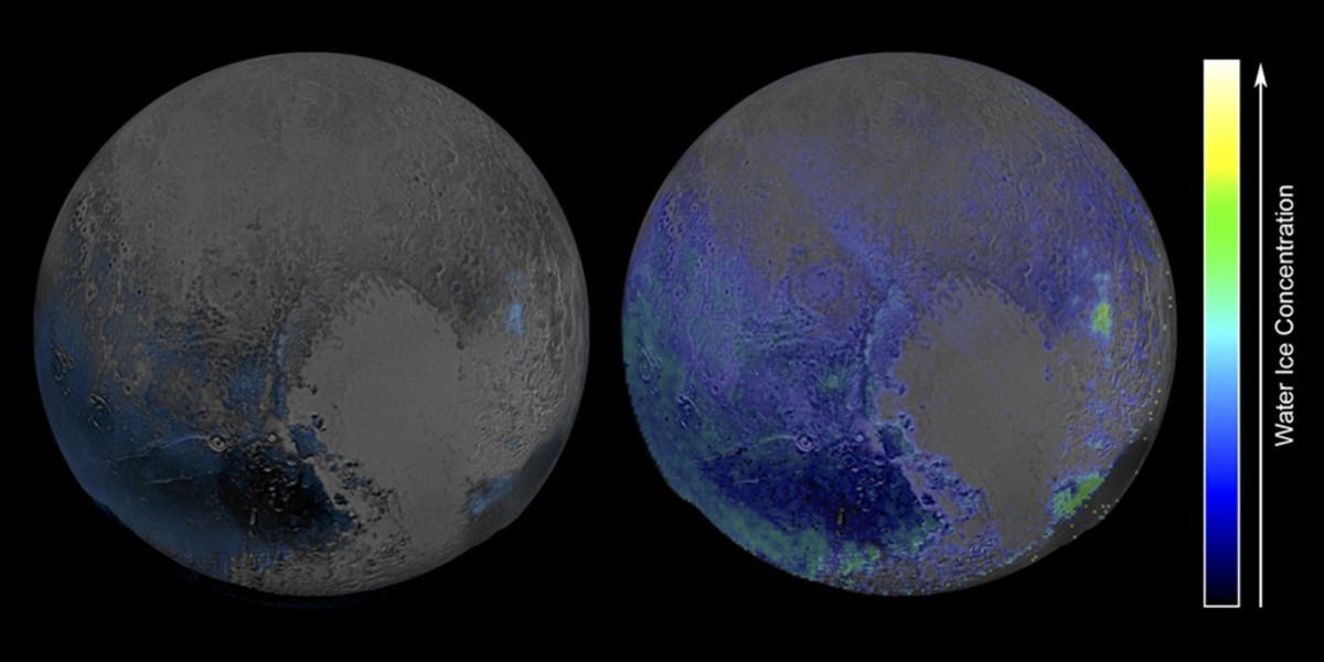 A water map of Pluto.