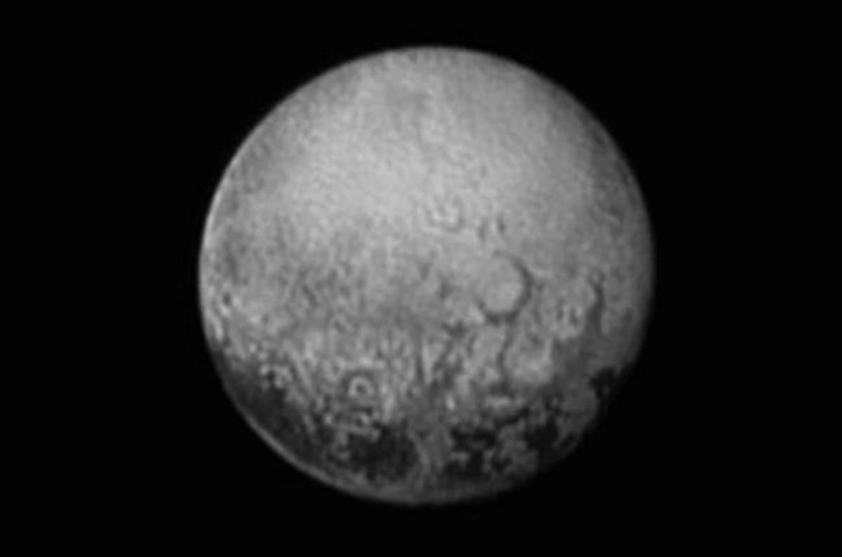 The dark spots of Pluto.