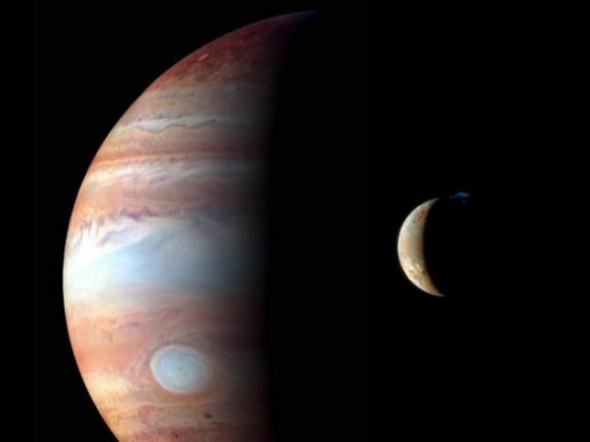 Jupiter as imaged by New Horizons.