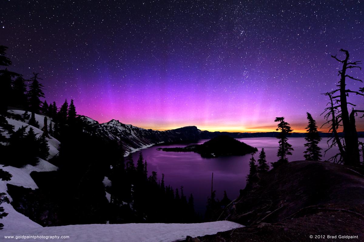 the rare pink aurora