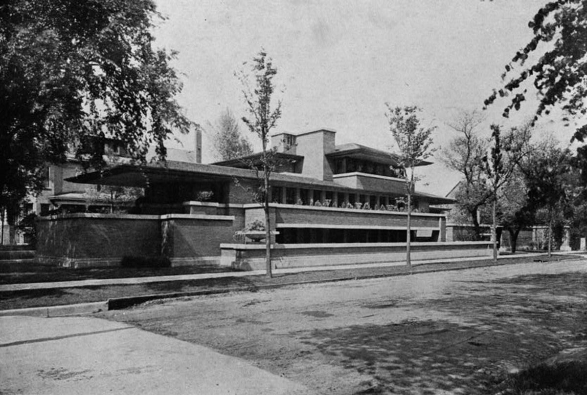 Frederick C. Robie house, as it looked in 1911.