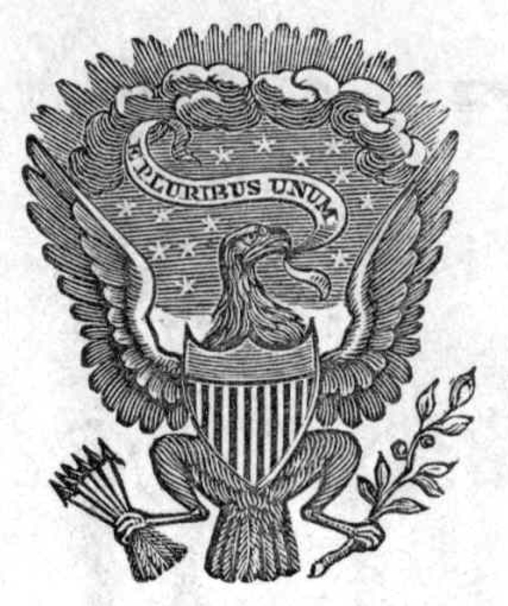 This letterhead seal used by President Polk is very similar to the official seal of the United States of America that was created decades later.
