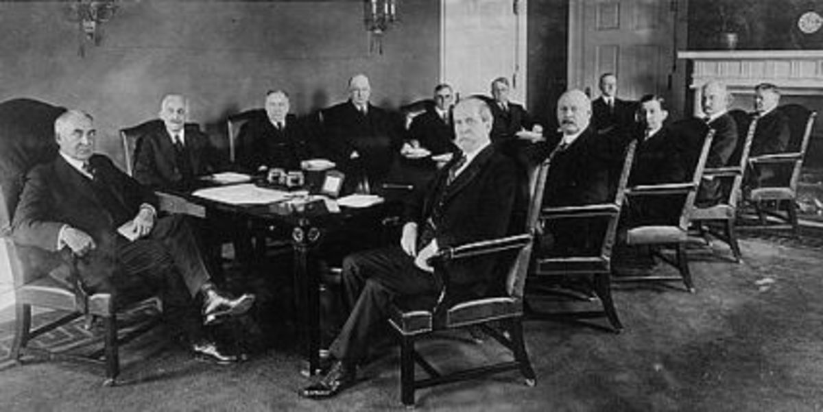 Hardings first meeting with his cabinet. Photo is dated from 1921 and may also be found in the library of Congress.