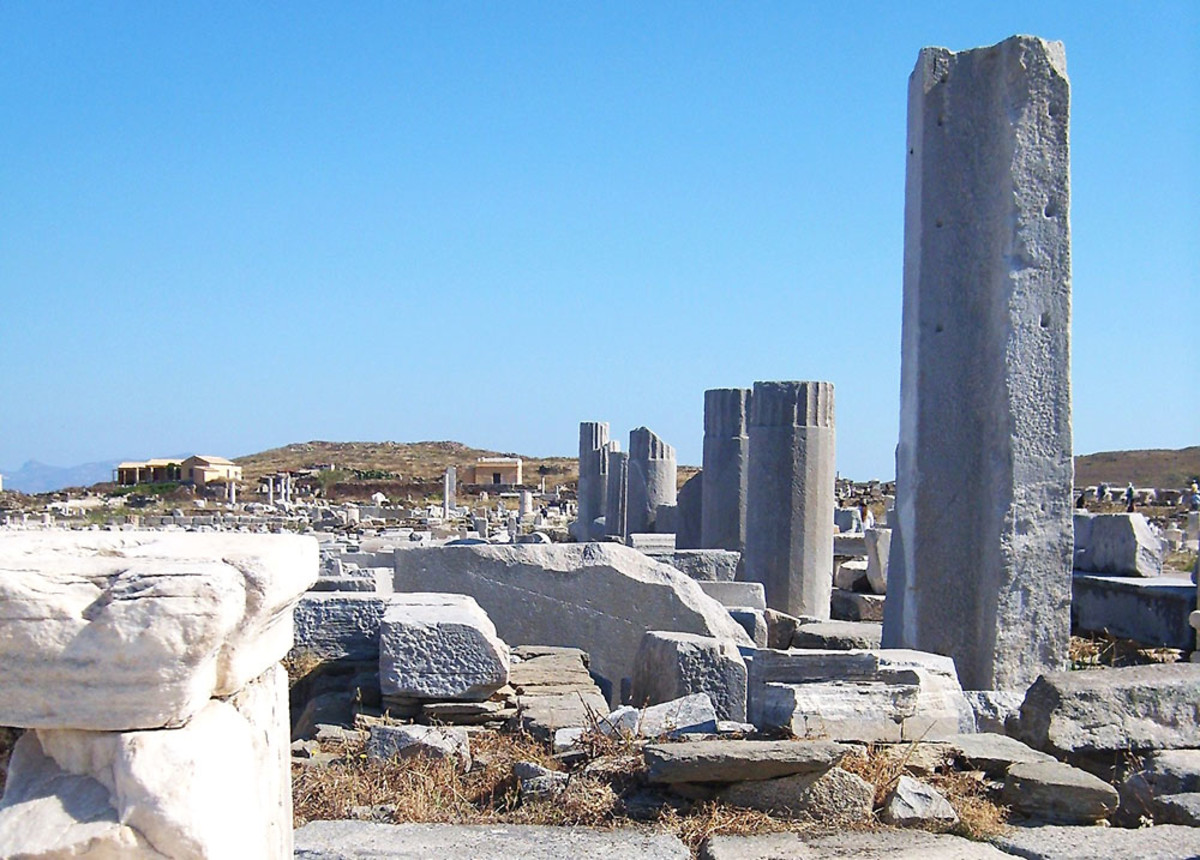 Delos is the birthplace of two Greek Gods in classic Greek myths. It is also a very popular day-trip destination for Greek island vacations.