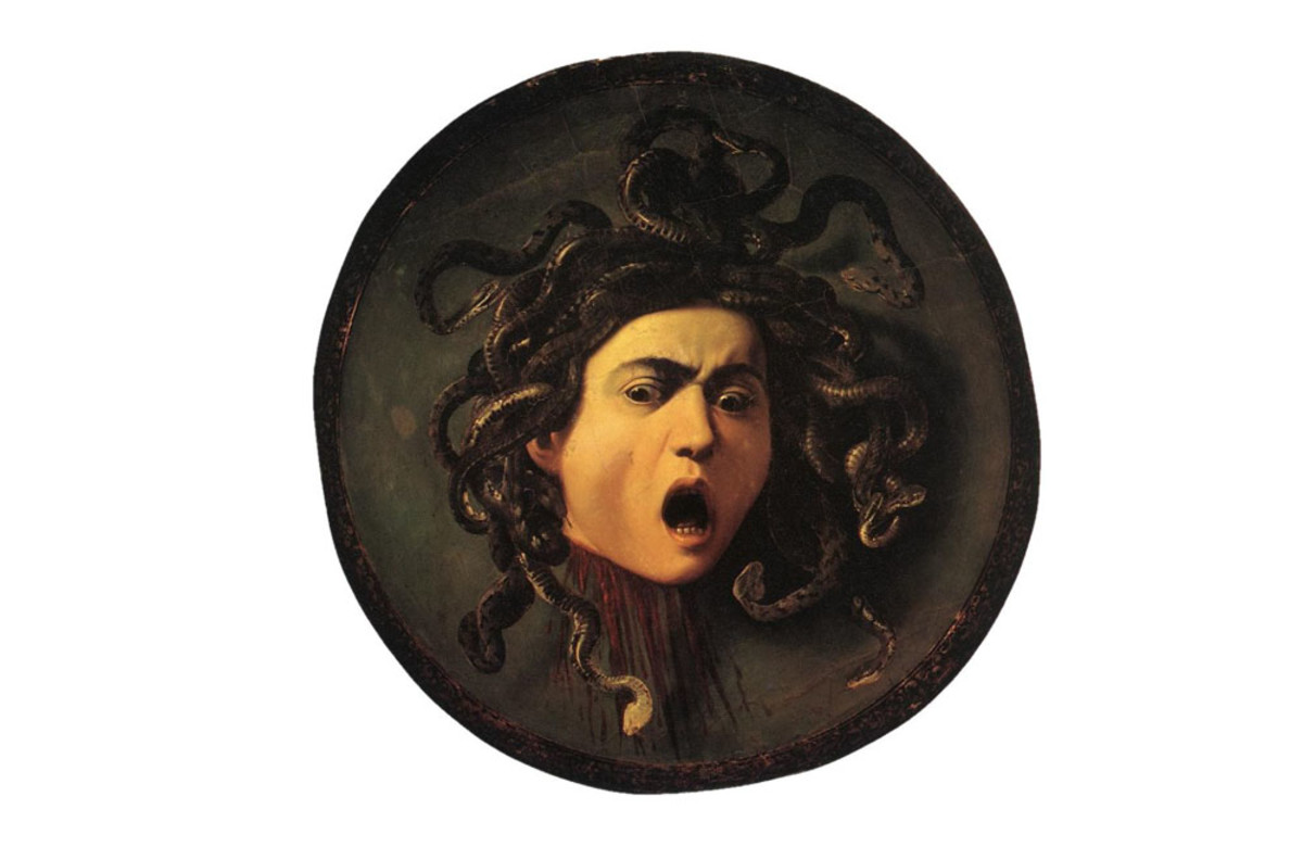 Carravaggio's Testa di Medusa. Without a doubt, Medusa is one of the most horrific and unique monsters in Greek myths.