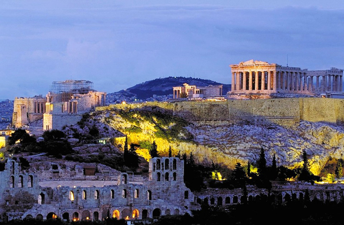 The Acropolis and the Parthenon. Greece's most famous ruins.