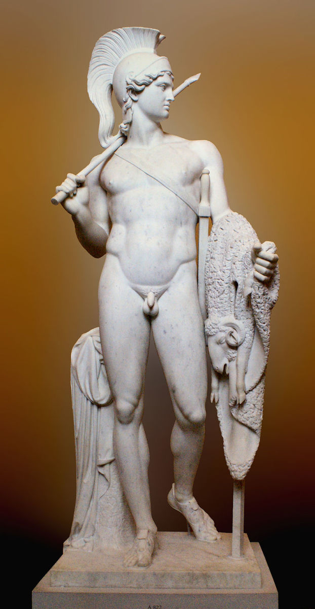 Sculpture of Jason by Bertel Thorvaldsen. Jason is one of the most famous leaders in Greek myths.
