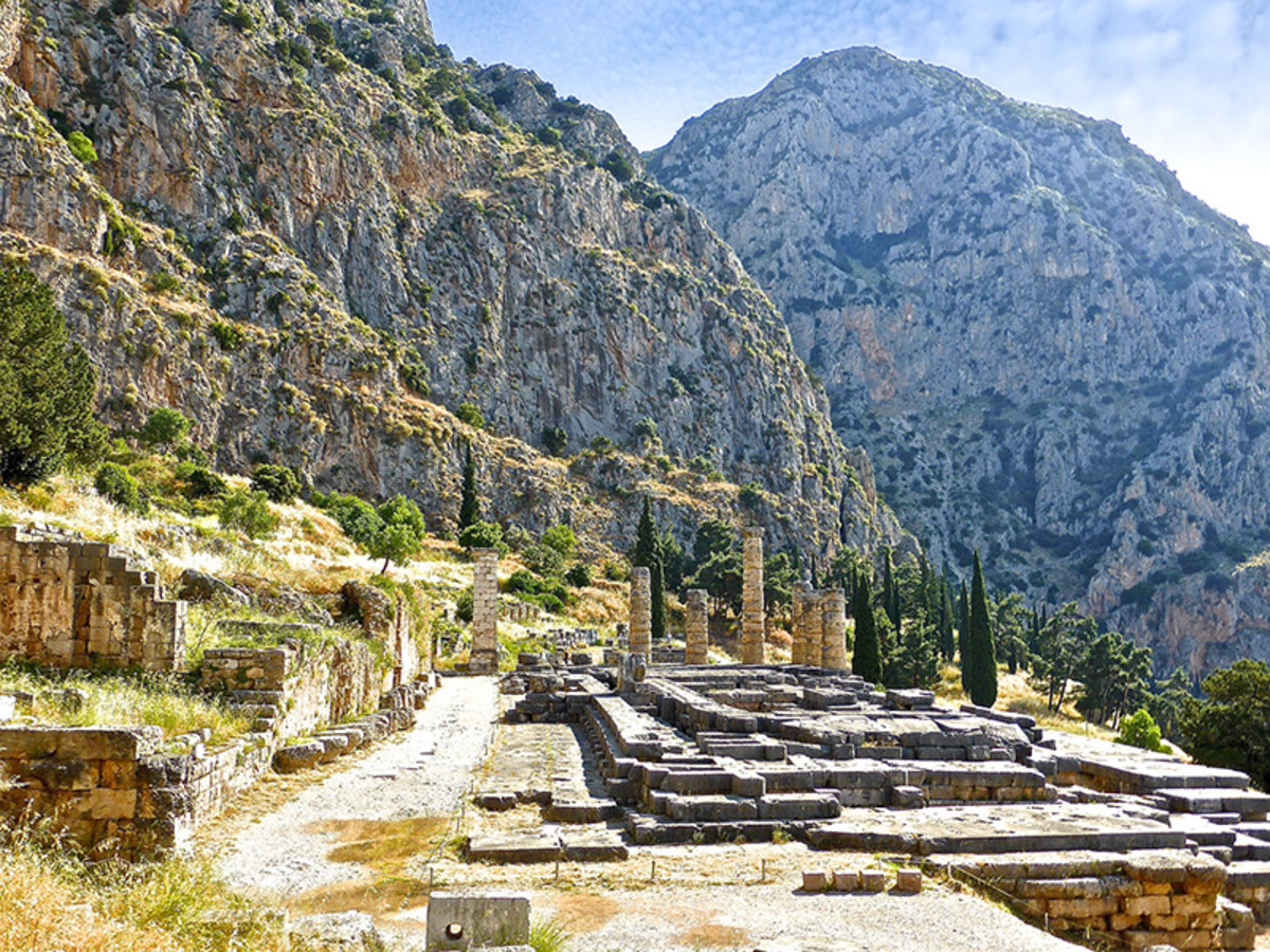 Delphi, once the spiritual heart of Greece, featured in many Greek myths.