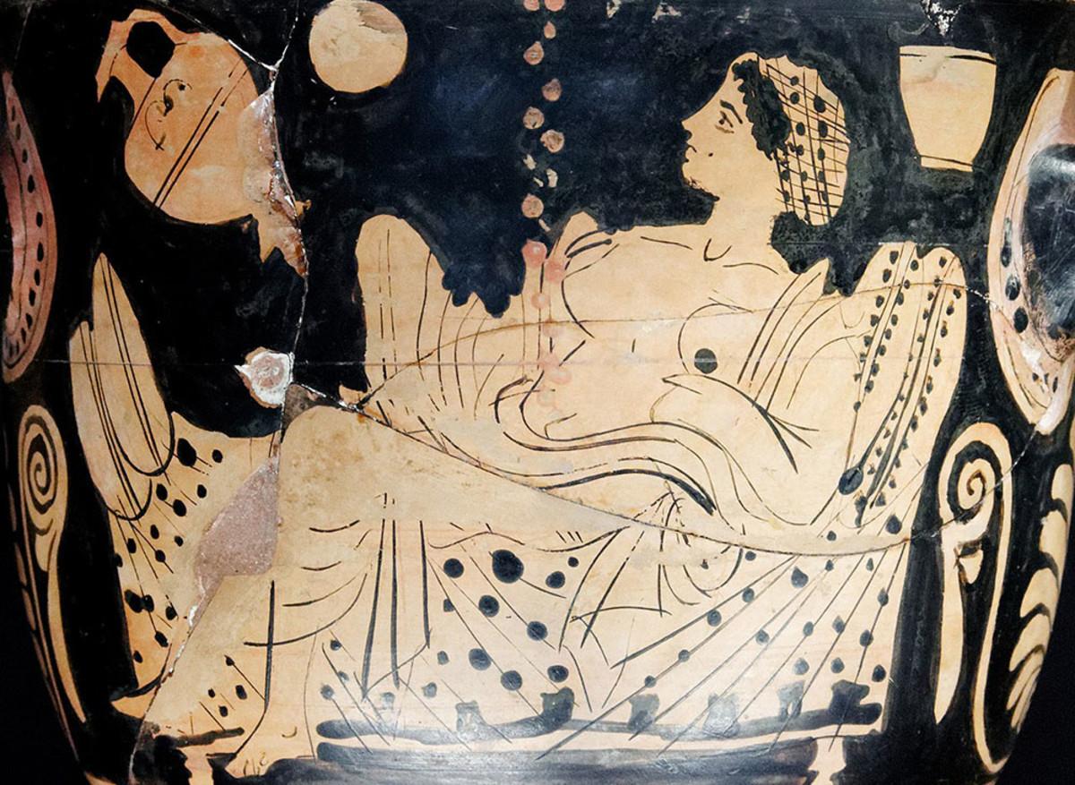 Zeus' union with Danae.
