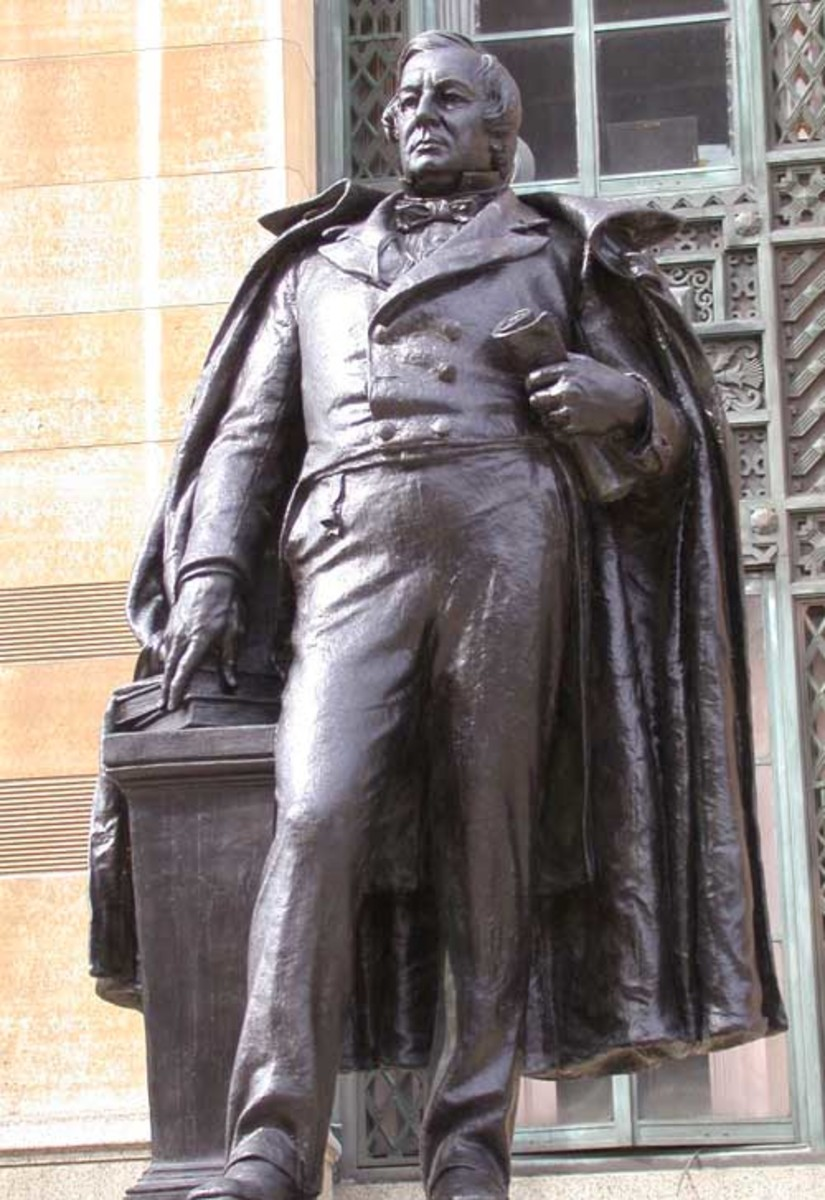 Statue of Millard Fillmore outside City Hall in Buffalo, New York.