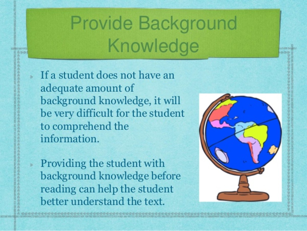 Providing your English language learners with background knowledge better enables them to understand new content.